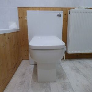 How to fit a back to wall WC toilet unit.