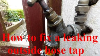 How to fix a leaking outside hose tap.