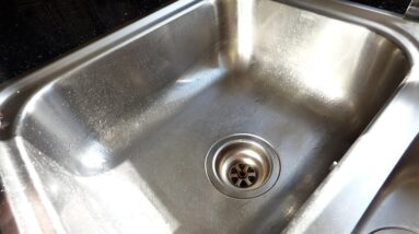 How to renew a sink waste, the chrome part through the sink.