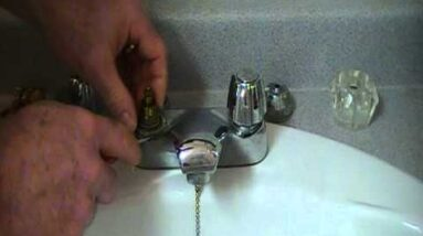 How to repair a leaky faucet in a bathroom or kitchen...Crane
