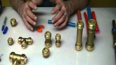 How to use sharkbite fittings for easy fix. Plumbing Tips!