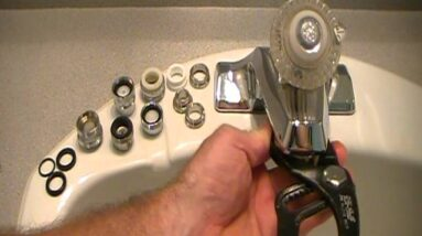 Low water pressure at the sink or basin!