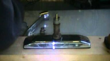 Old plumber shows how to repair a leaky - replace kitchen spout.