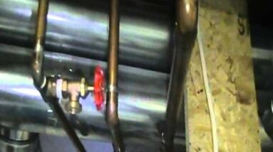 Relief valve blowing off on hot water boiler (furnace). How to fix... Part 1