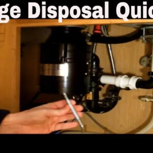 Garbage Disposal Repair Quick Fix