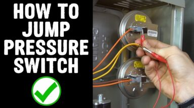How to Jump Pressure Switch on Furnace
