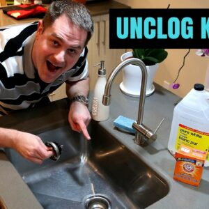 How to unclog a kitchen sink using baking soda and vinegar !!